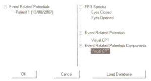 Окно сравнения индивидуальных ВП с нормативной базой данных