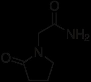 Структурная формула пирацетама