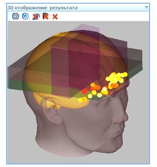 Отображение границ областей на проекции