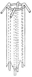 Стеклянная заготовка, подготовленная для вытяжки капилляров, содержащих стекловолокно