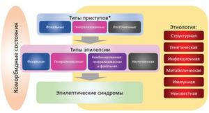 Структура Классификации эпилепсии ILAE 2017 г.